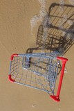 Retail cart from above, near the sea water