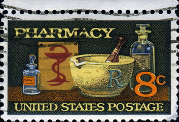 Pharmacy. Us postage.