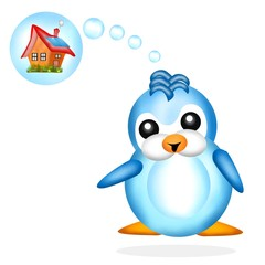 pinguino in sogno