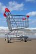 Retail cart near the sea
