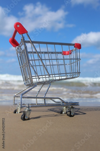 Retail cart near the sea