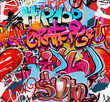 Hip hop graffiti urban art background - 36210073