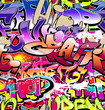 Graffiti seamless background. Hip-hop urban art