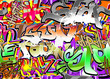 Graffiti urban art seamless background