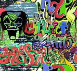 graffiti wall vector seamless background
