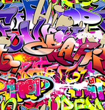 Fototapety Graffiti seamless background. Hip-hop urban art