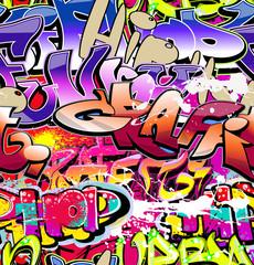 Graffiti seamless background. Hip-hop urban art