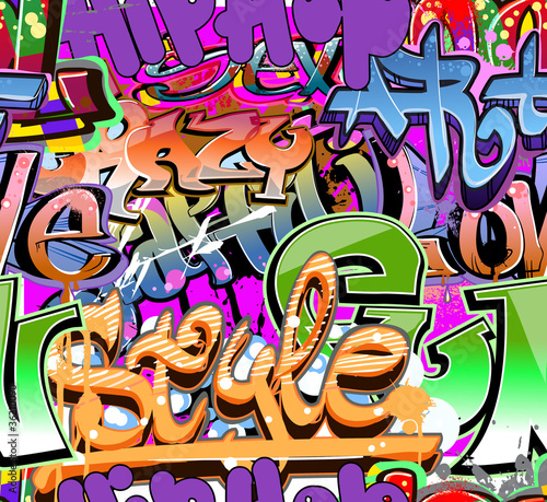 Urban art. Grunge graffiti hip-hop design