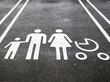 Leinwanddruck Bild - Family parking