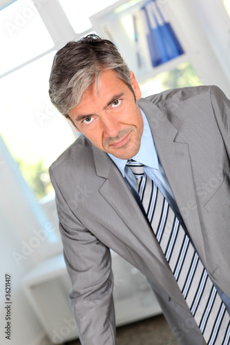 Businessman with persuasive look