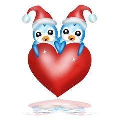 pinguini innamorati natalizi