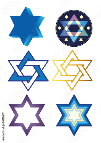 illustration with stars of david