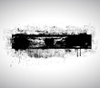 Black Shape Grunge Textured Banner