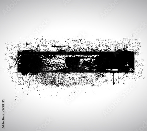 Black Shape Grunge Textured Banner