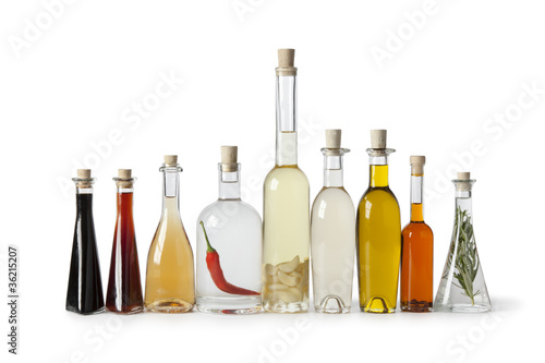 Bottles with oil and vinegar - 36215207