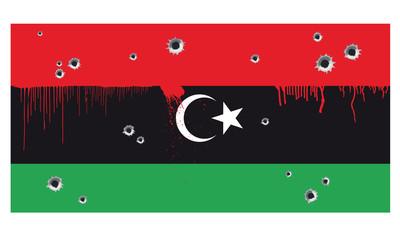 Flagge Libyen Krieg