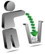 Mülleimer Umwelt sauber halten entsorgen 3d