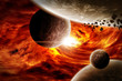 Planet landscape illustration Earth Apocalypse