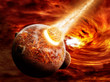 Planet landscape illustration Earth Apocalypse