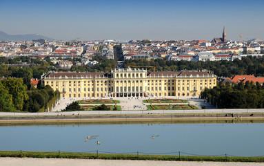 Schloss Schönbrunn - Panoramablick auf Wien