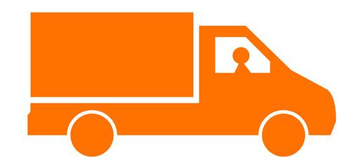 camion livraison orange