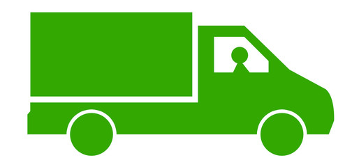 camion livreur vert