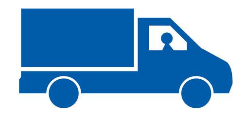 camion livraison bleu