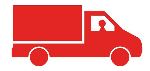 livraison camion rouge