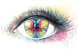 butterfly in her eye (series C)