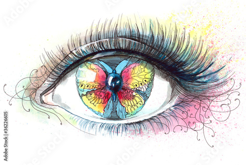 butterfly in her eye (series C)