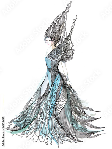 beautiful evening dress (series C)