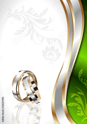 "elegant vector template ""wedding card"""