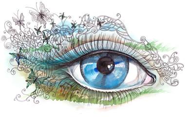 summer human eye