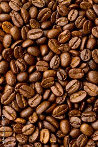 Poster Kaffeebohnen Hinterfund