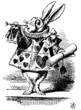 Alice in Wonderland: Rabbit with trumpet