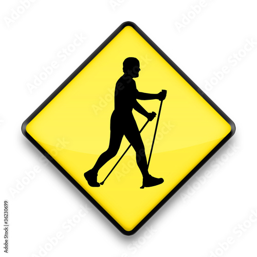 nordic walking warning sign