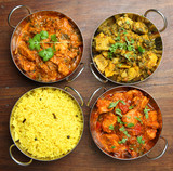 Indian Curries and Rice Food
