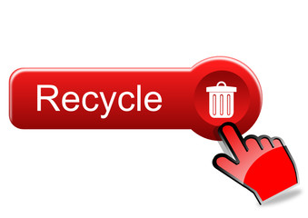 Recycle button with red hand