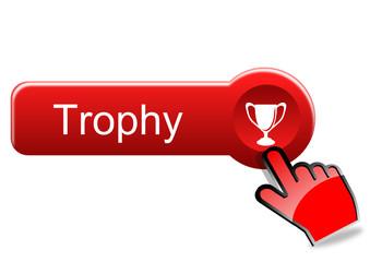 Trophy button with red hand