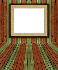 creative matched natural green and brown color pine plank interr