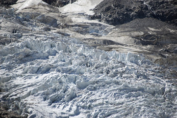 Closeup of glacier