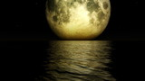 1275 Romantic Magical Fantasy Dream Moon Ocean Waves Stars Loop