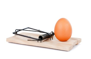 Egg and mousetrap