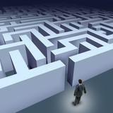 Business maze challenge poster