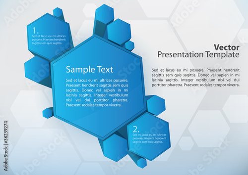3d presentation background elements