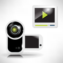 camera and movie player icon