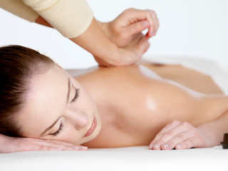 Relaxing massage for woman