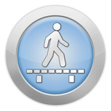 "Light Colored Icon ""Walk On Boardwalk"""