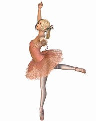 Ballet Performance - Attitude Pose