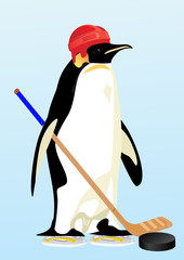 Penguin-hockey player